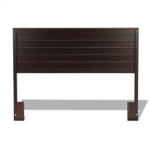 Uptown Wooden Headboard Panel with Horizontal Board Design, Espresso Finish, Full / Queen
