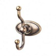 Edwardian Bath Double Hook Oval Backplate - German Bronze