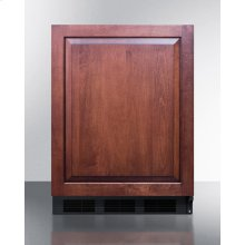 ADA Compliant Built-in Undercounter All-refrigerator for General Purpose Use, Auto Defrost W/integrated Door Frame for Custom Overlay Panels and Black Cabinet