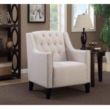 Perry Beige Tufted Accent Chair