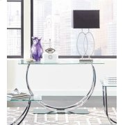 Contemporary Chrome Sofa Table Product Image