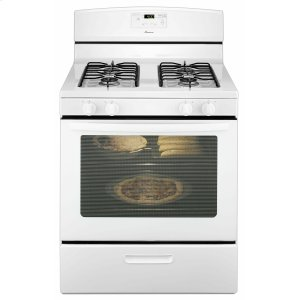 30-inch Gas Range with Easy Touch Electronic Controls - White -