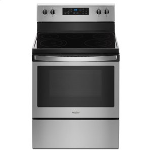 Whirlpool5.3 cu. ft. Freestanding Electric Range with 5 Elements Fingerprint Resistant Stainless Steel