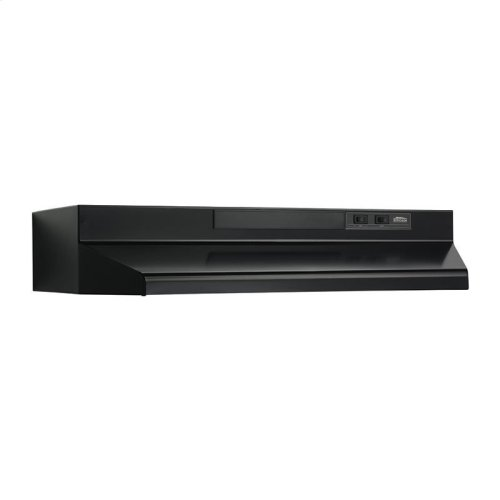 30-Inch Convertible Under Cabinet Range Hood with Light in Black with EZ1 installation system