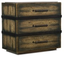 Bedroom Crafted Three-Drawer Nightstand