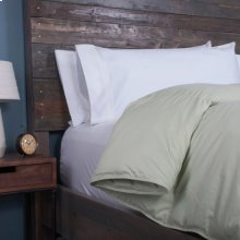 Posturepedic Down Alternative Color Comforter - Green - Oversized Queen