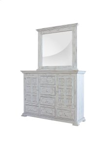 Charleston White Mirror