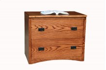 "O-M650 Mission Oak 2-Drawer Locking Lateral File Cabinet, 36""W x 21""D x 30""H"