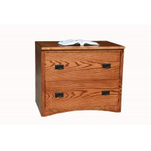 """O-M650 Mission Oak 2-Drawer Locking Lateral File Cabinet, 36""""W x 21""""D x 30""""H"""
