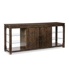 Glass Shelf Console Cabinet