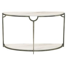 Morello Demilune Metal Console Table
