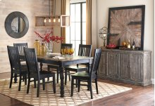 Clayco Bay - Black/Gray 6 Piece Dining Room Set
