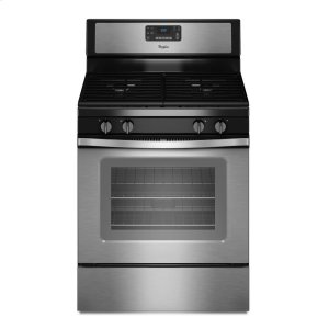 5.0 Cu. Ft. Freestanding Gas Range with AccuBake® Temperature Management System - BLACK-ON-STAINLESS