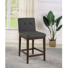 Transitional Charcoal and Cappuccino Counter-height Stool