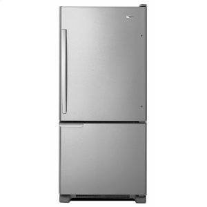 Amana29-inch Wide Bottom-Freezer Refrigerator with Garden Fresh Crisper Bins -- 18 cu. ft. Capacity - Stainless Steel