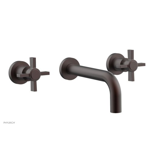 Basic Wall Tub Set - Blade Cross Handles D1137 - Weathered Copper