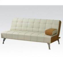 Beige/brw Pu Adjustable Sofa