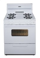 30 in. Freestanding Gas Range in White Product Image