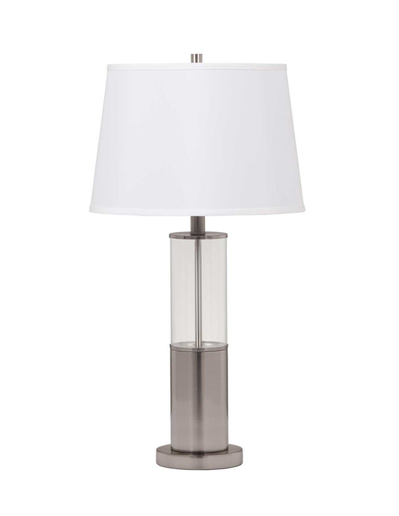 lamp tech lamps in fangio port with metal usb base w table outlet nickel lighting p brushed friendly and