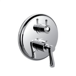 "7098kr-tm - 1/2"" Thermostatic Trim With 3-way Diverter Trim (shared Function) in Polished K Gold"