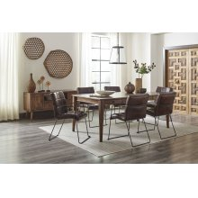 Modern Living Dining With 4 Dawson Dining Chairs