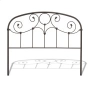 CLEARANCE ITEM--Grafton Metal Headboard Panel with Prominent Scrollwork and Decorative Castings, Rusty Gold Finish, Queen Product Image