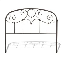Grafton Metal Headboard Panel with Prominent Scrollwork and Decorative Castings, Rusty Gold Finish, Queen