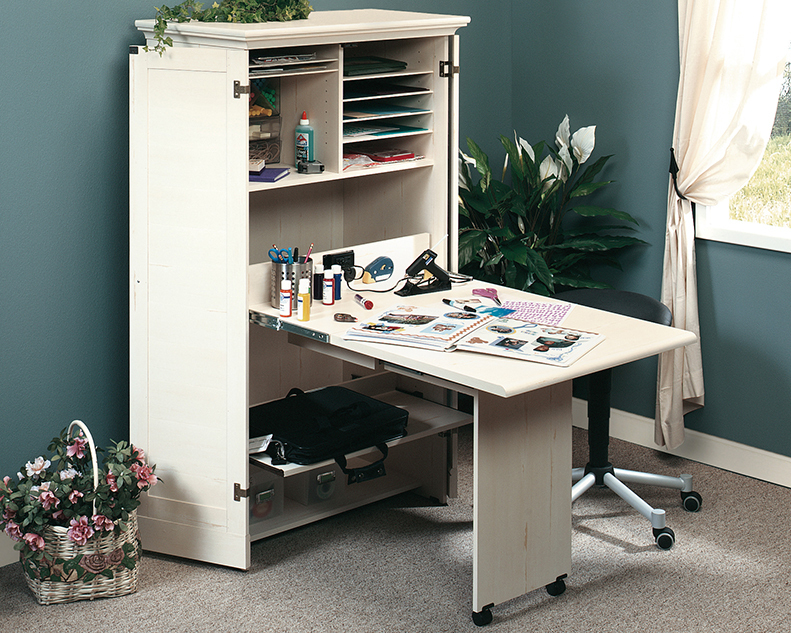158097sauder Craft And Sewing Armoire With Table Westco