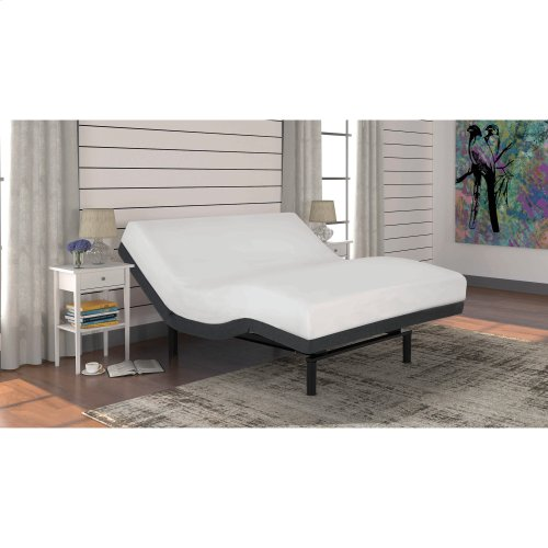 S-Cape+ 2.0 Adjustable Bed Base with (2) 4-Port USB Hub's and Full Body Massage, Charcoal Gray Finish, Full