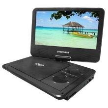 "9"" Portable Swivel DVD Player-5hr Battery"