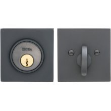 Square Auxiliary Deadbolt Kit in (US10B Oil-rubbed Bronze, Lacquered)