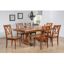 Butterfly Leaf Trestle Table