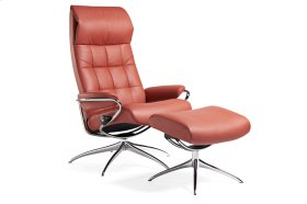 Stressless London High Back Star Base Chair and Ottoman
