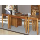Shaker Work Table in Caramel Latte Product Image