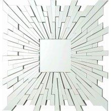Transitional Square Frameless Mirror