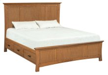 LSO Prairie City Cal-King Mantel Storage Bed
