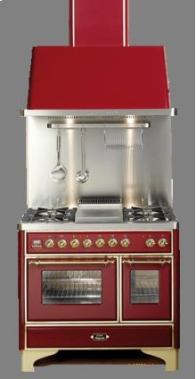 "Stainless 40"" 6 Burner Majestic Techno Dual Fuel Range"