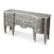 This magnificent Buffet features sophisticated artistry and craftsmansip. The botanic patterns covering the piece are bone inlays formed and applied individually by the hands of a consummate artisan. No two pieces are ever exactly alike, ensuring this Buf Product Image