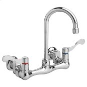 Heritage Wall-Mounted Faucet with Wrist Blade handles - Polished Chrome