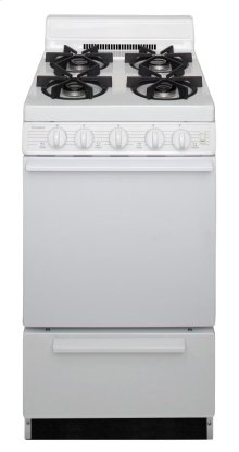 20 in. Freestanding Sealed Burner Gas Range in White