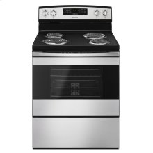 30-inch Electric Range with Bake Assist Temps Black-on-Stainless