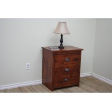 A-R450 Rustic Alder 3-Drawer Night Stand