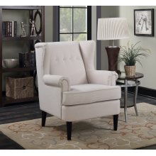 Waller Beige Wingback Accent Chair