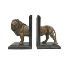 Lion Bookends Set