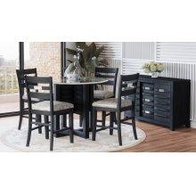 Altamonte Round Counter Table - Dark Charcoal