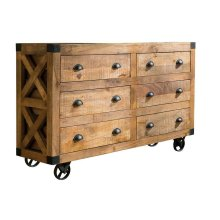 Rustic Six-drawer Accent Cabinet