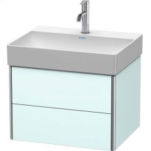 Vanity Unit Wall-mounted, Light Blue Matt Decor