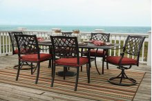 Tanglevale - Burnt Orange 3 Piece Patio Set
