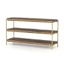 Aged Brass Finish Simien Media Console