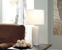 Ceramic Table Lamp - Steuben White